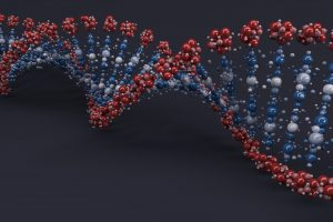 3D Render of a DNA Helix